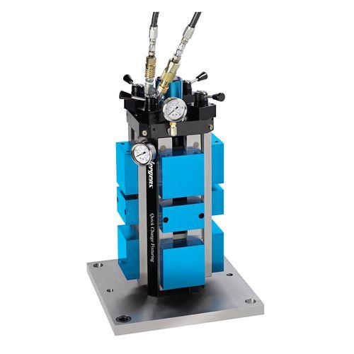 machine tool vise / hydraulic / 4-sided / screw