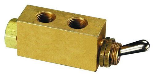 poppet valve / lever / miniature / 3-way