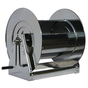 hose reel / hand crank / open / for air