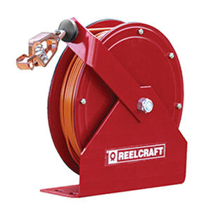 grounding reel / self-retracting / with mounting bracket / corrosion-resistant