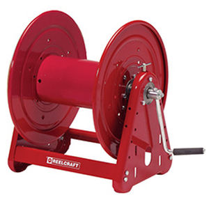 cable reel / hand crank / open / corrosion-resistant