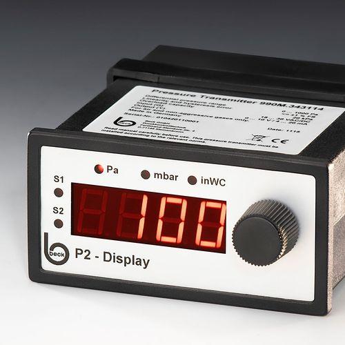 digital pressure gauge / differential pressure / for air / for gas