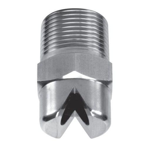 spray nozzle / flat spray / PTFE / stainless steel