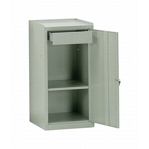 storage cabinet / floor-mounted / with drawer / with swing doors