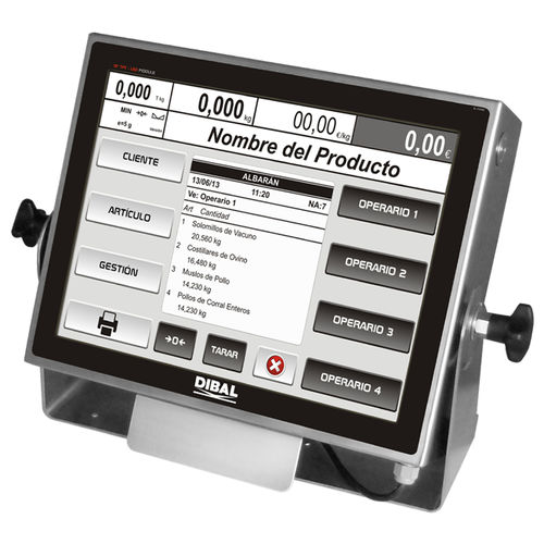 weight indicator with touchscreen - DIBAL, S.A.