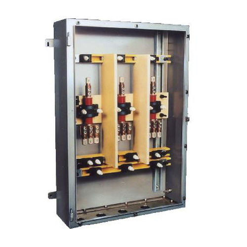 equipped electrical enclosure / wall-mounted / stainless steel / power distribution