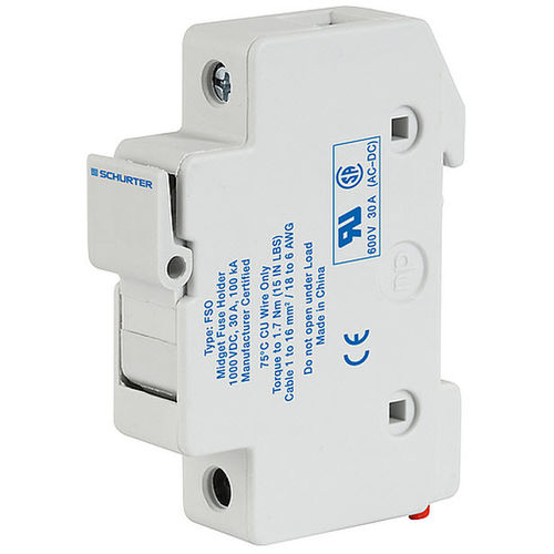 DIN rail fuse holder / for photovoltaic applications FSO SCHURTER