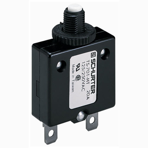Thermal circuit breaker / multi-pole / modular / push-button TS series SCHURTER