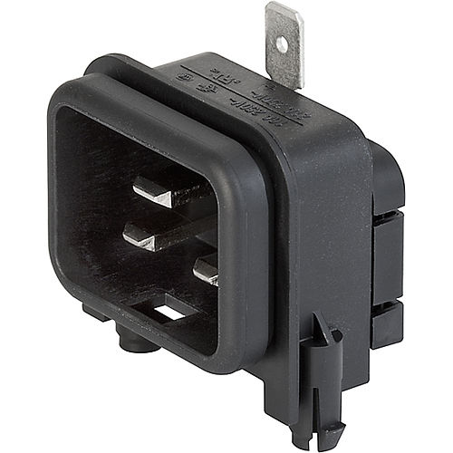 DIN connector / rectangular / male / IEC