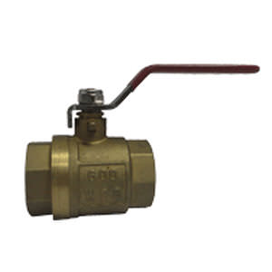 ball valve / lever / for gas / brass