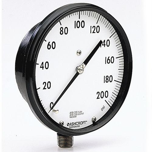 analog pressure gauge / Bourdon tube / process / stainless steel