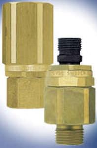 screw-in fitting / straight / hydraulic / swivel