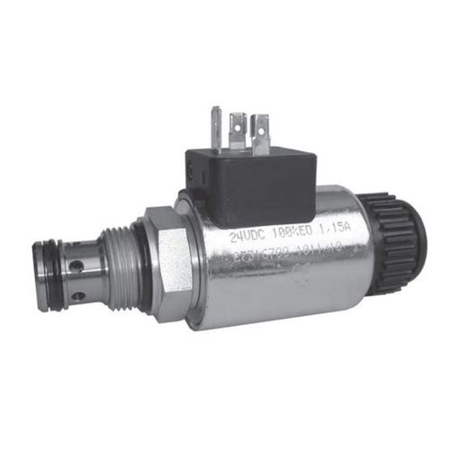 poppet hydraulic directional control valve / solenoid-operated / 2/2-way / cartridge
