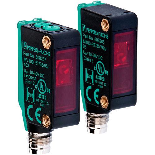 through-beam photoelectric sensor / rectangular / cylindrical / infrared