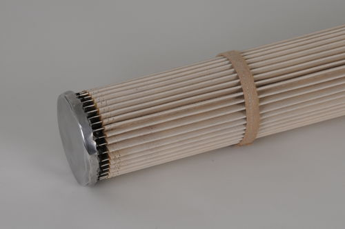 air filter / sleeve / pleated / high-temperature