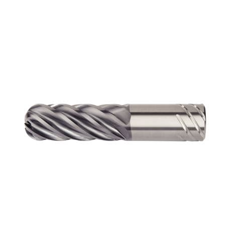 solid milling cutter / roughing / for titanium / 6-flute
