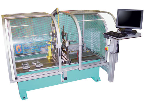 horizontal balancing machine / static / for rotors / for shafts