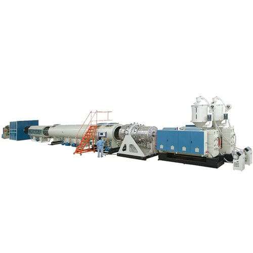 tube extrusion line / for HDPE / 3-layer / for gas pipes