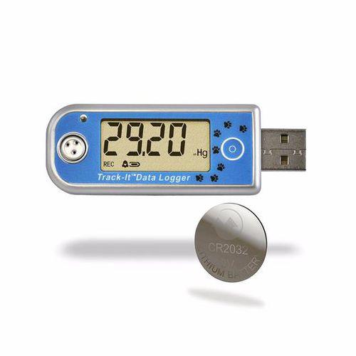 temperature data-logger / barometric pressure / USB / with LCD display