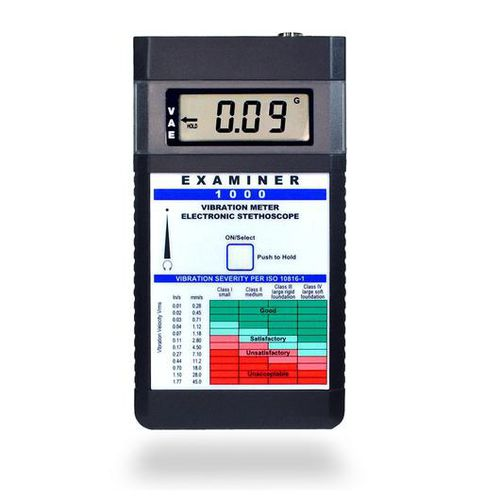 machine monitoring vibration meter / with electronic stethoscope