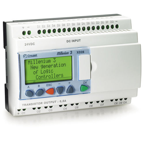 Panel-mount PLC / 16-I CD12RBT / XD26RBT  Crouzet