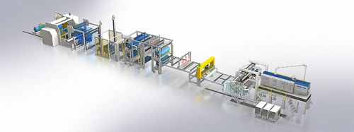 flat-film extrusion line / for PMMA / for polycarbonates / for optical films