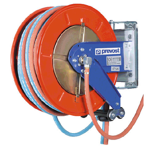 hose reel / manual / double / fixed