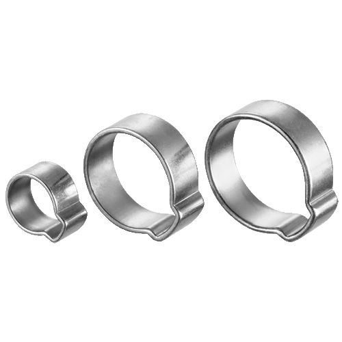 zinc-coated steel hose clamp / wing