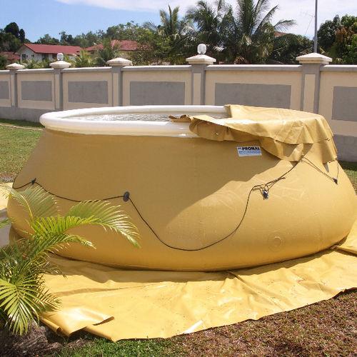 liquid tank / for water / fabric / flexible