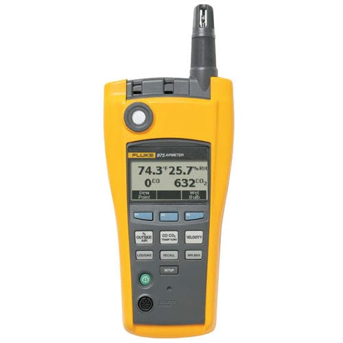 Handheld air quality meter / IAQ / indoor Fluke 975 FLUKE