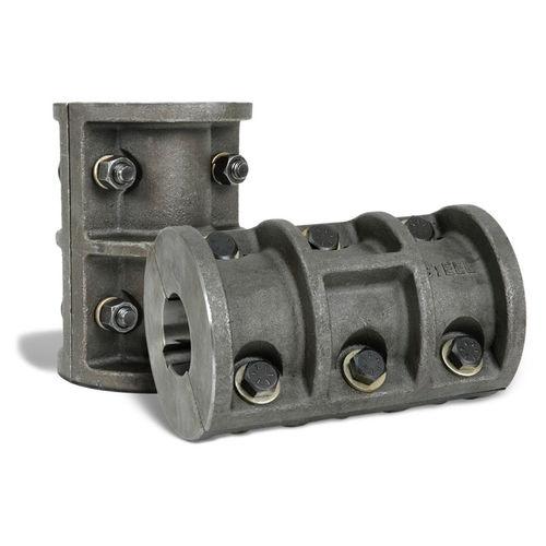 rigid coupling / for shafts / steel / flange