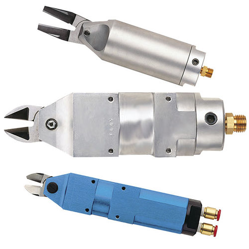 pneumatic shear / for metal sheets / strap / hand-held