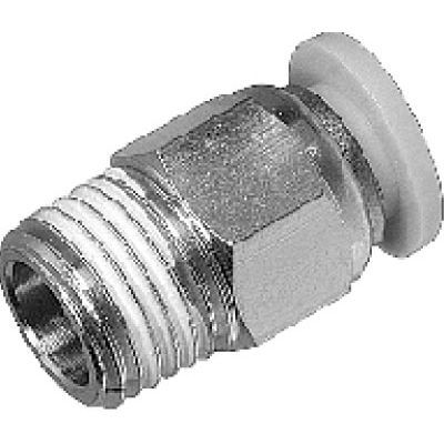 Screw-in fitting / straight / hydraulic / metal APC series AUTOMAX
