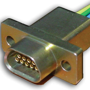 electrical power supply connector / D-sub / micro-D / rectangular