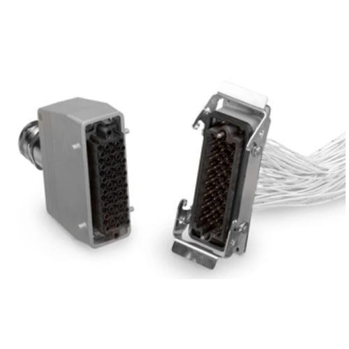 heavy-duty connector / hybrid / data / electrical power supply