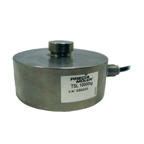 compression load cell / button type / precision / stainless steel