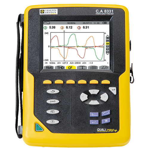 electrical network analyzer / power quality / portable / compact