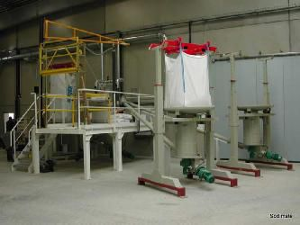 Draining big bag station Sodimate