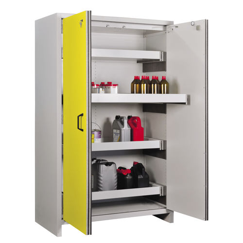 security cabinet / free-standing / with drawer / metal