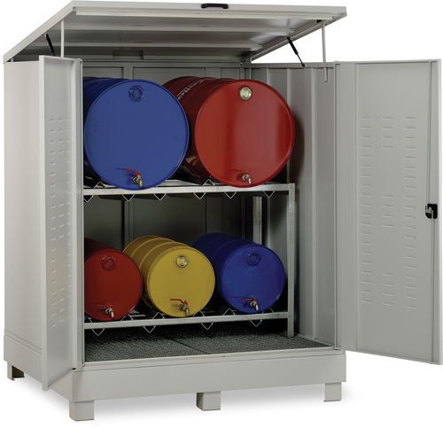 storage cabinet / free-standing / containerized / hinged door