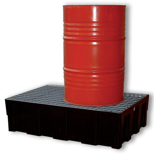 multi-use containment bund / for drums / polyethylene / rigid