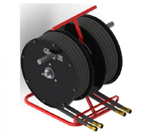 hydraulic hose reel / manual / fixed / double