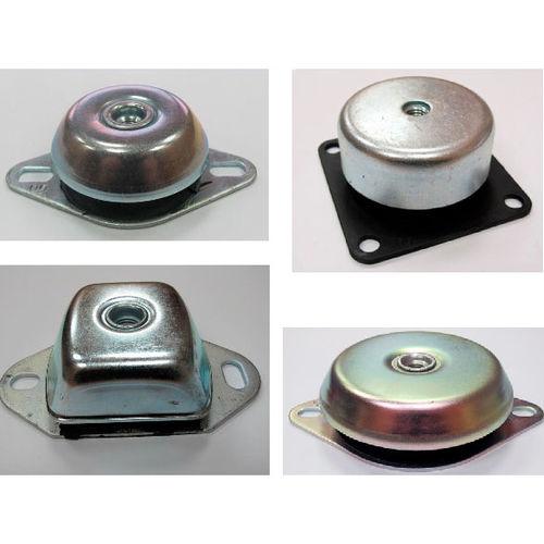 rectangular anti-vibration mount / galvanized steel / rubber / for machines