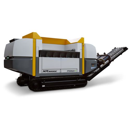 single-shaft shredder / solid & bulk waste / plastic / for wood