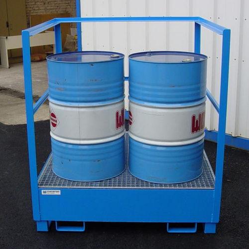2-drum containment bund / 4-drum / 1-drum / galvanized