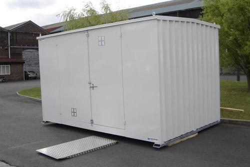 hazardous materials storage bungalow