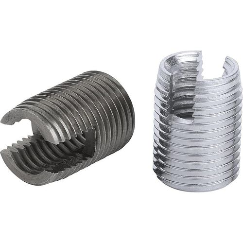threaded insert / self-tapping / steel / stainless steel