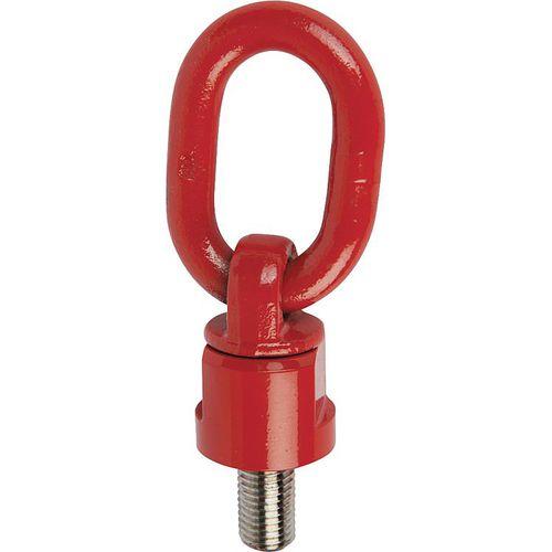 articulated hoist ring / 360° swivel / screw-in