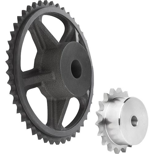 hub sprocket wheel / for chain / steel