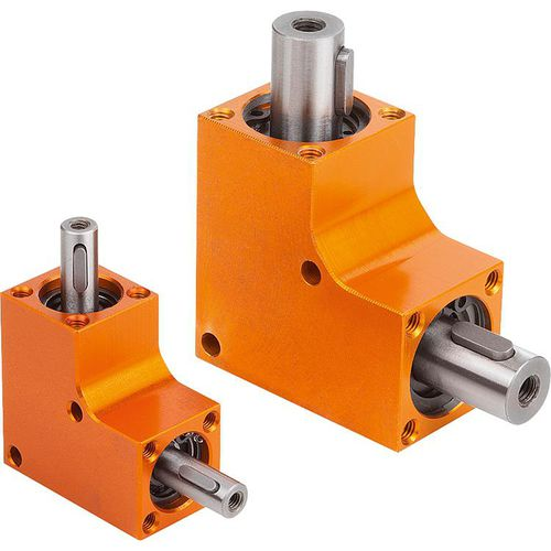 bevel gear reducer / perpendicular / high-precision / low-noise